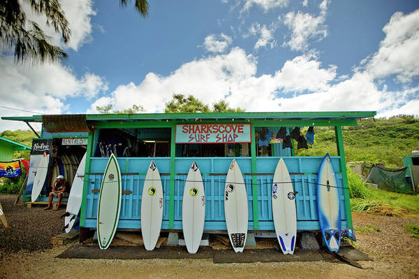 Surfing Photograph - Sharks Cove Surf Shop With New by Merten Snijders
