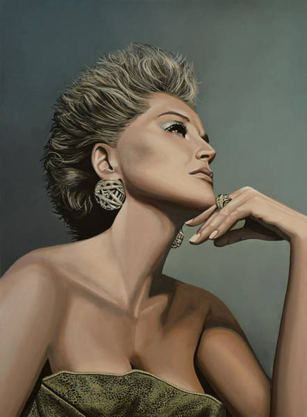 Sharon Painting - Sharon Stone by Paul Meijering