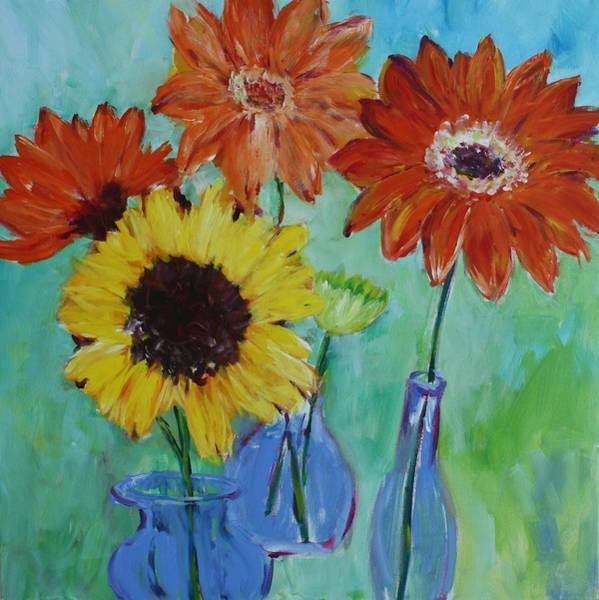 Painting - Shasta Daisy Day by Tara Moorman