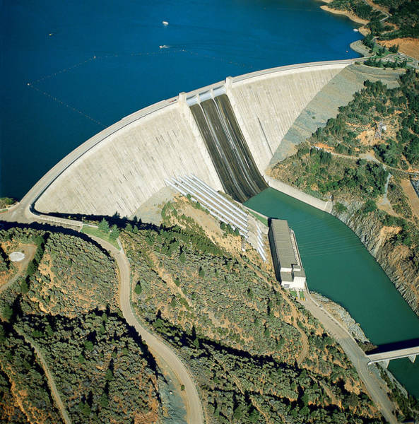 Wall Art - Photograph - Shasta Dam by B. W. Marsh