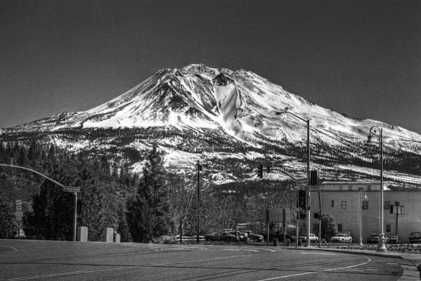 Photograph - Shasta From Weed 1 by Lee Santa