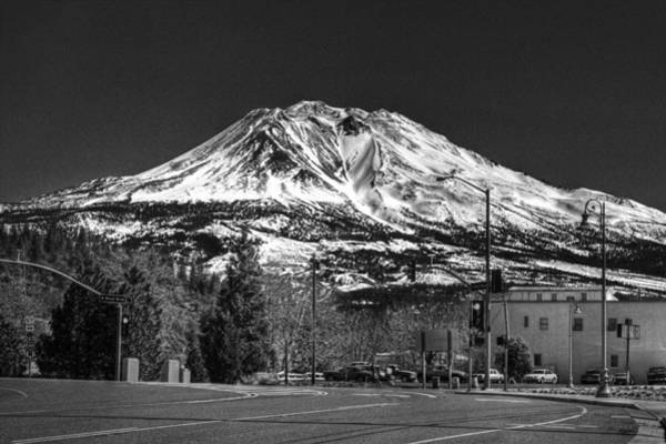 Photograph - Shasta From Weed 2 by Lee Santa
