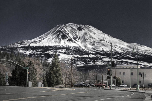 Photograph - Shasta From Weed 3 by Lee Santa