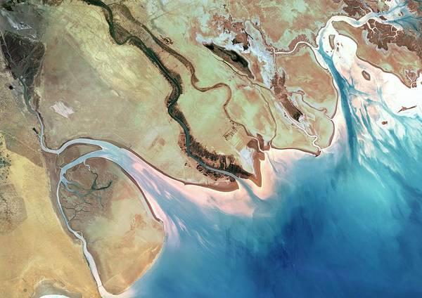 Delta Photograph - Shatt Al-arab Delta by Planetobserver/science Photo Library