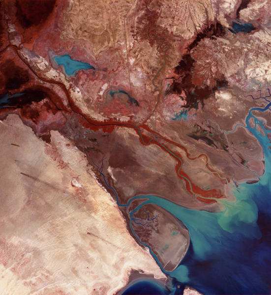 Iraqi Photograph - Shatt Al Arab River Delta by Mda Information Systems/science Photo Library