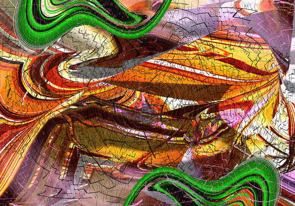Digital Art - Shattered By Earthquake - Abstract by rd Erickson