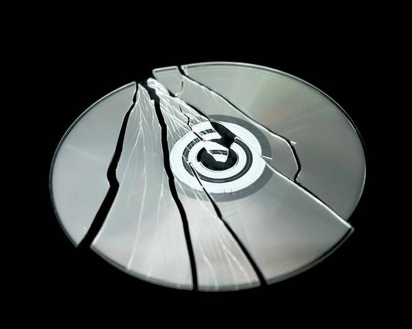 Roms Photograph - Shattered Cd-rom by Robert Brook