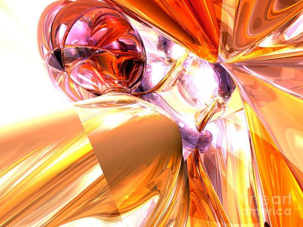 Broken Glass Digital Art - Shattered Perspective Abstract by Alexander Butler