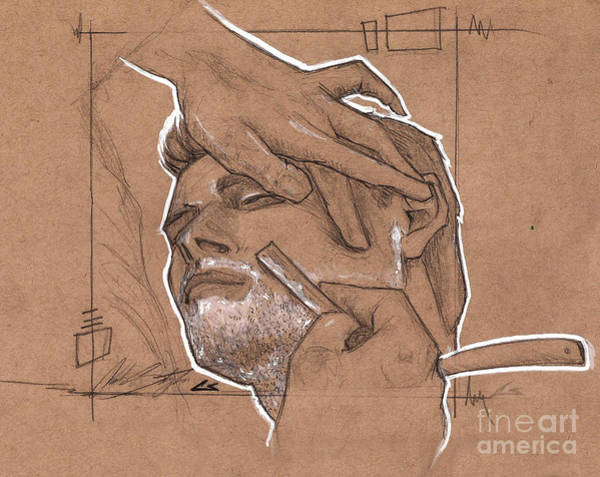 Charles Drawing - Shave Therapy by Shop Aethetiks