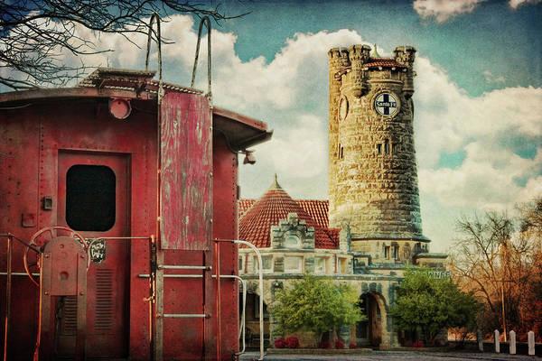 Depot Photograph - Shawnee Santa Fe by Lana Trussell