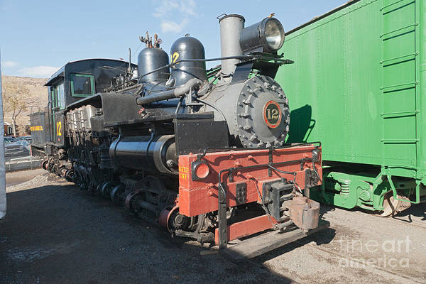 Photograph - Shay Engine 12 In The Colorado Railroad Museum by Fred Stearns