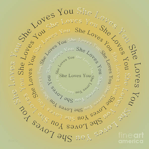 Digital Art - She Loves You 4 by Andee Design