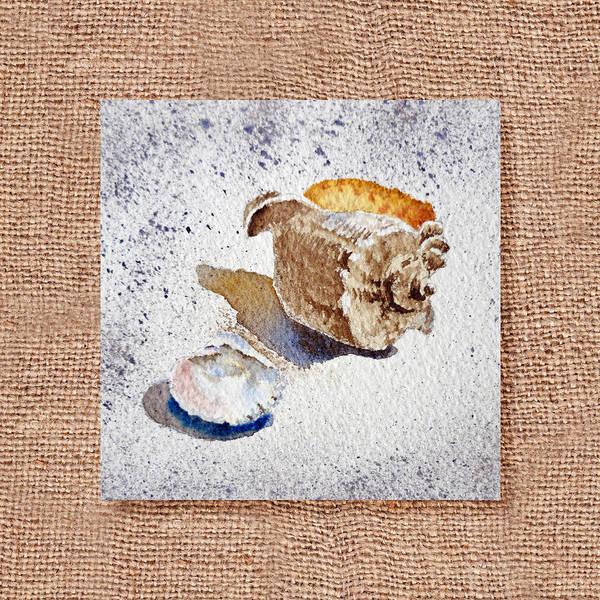 Painting - She Sells Sea Shells Decorative Collage by Irina Sztukowski