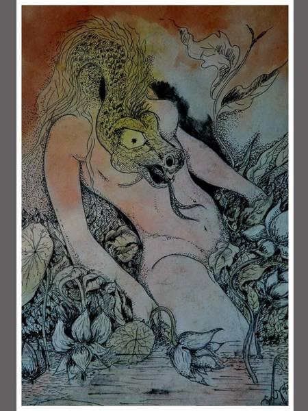 Kannan Painting - She by Sooraj Kannan