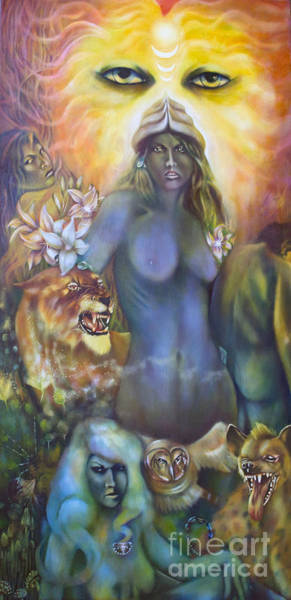 Painting - She The Flowering Of Ishtar by Roger Williamson
