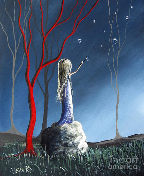 Wall Art - Painting - She Whispers Her Dreams By Shawna Erback by Erback Art