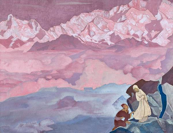 Nk Roerich Painting - She Who Leads by Nicholas Roerich