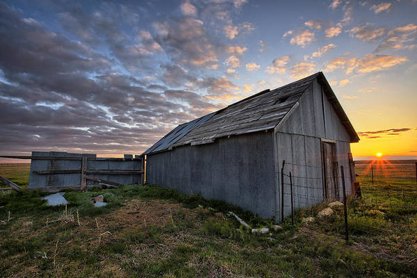 Great Plains Photograph - Shedded Rising by Thomas Zimmerman