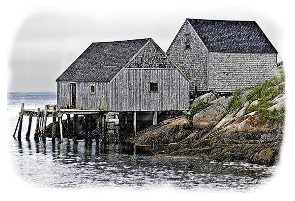 Photograph - Sheds At Peggys Cove by Gene Norris