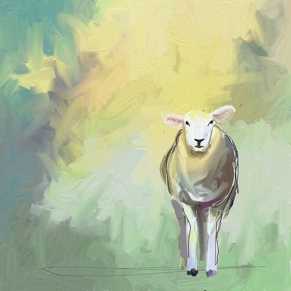 Green Photograph - Sheep Dressed In Light by Cathy Walters