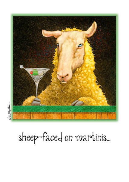 Bullis Painting - Sheep-faced On Martinis... by Will Bullas
