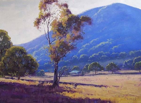 Australia Painting - Sheep Farm Tarana by Graham Gercken
