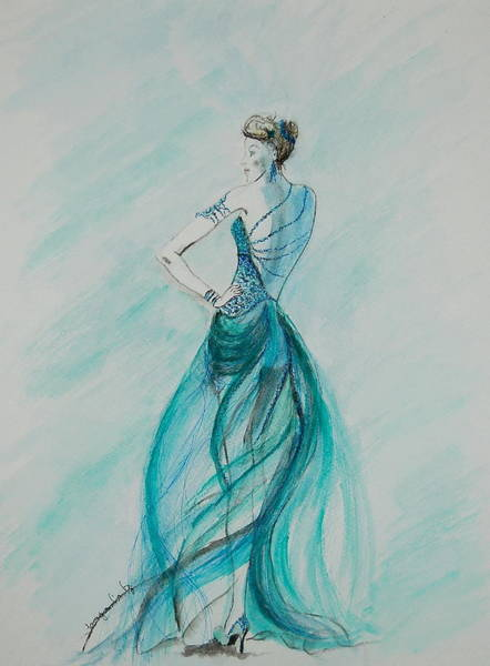Painting - Sheer Blue by Tamyra Crossley