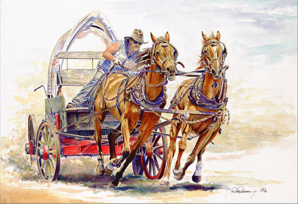 Racers Painting - Sheer Horsepower by Don Dane