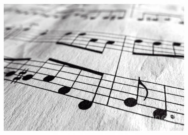 Photograph - Sheet Music Closeup by Edward Fielding