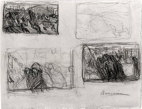 Boccioni Wall Art - Drawing - Sheet Of Studies by Umberto Boccioni