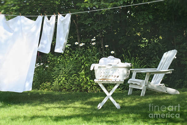 Photograph - Sheets And Towels Drying  by Sandra Cunningham