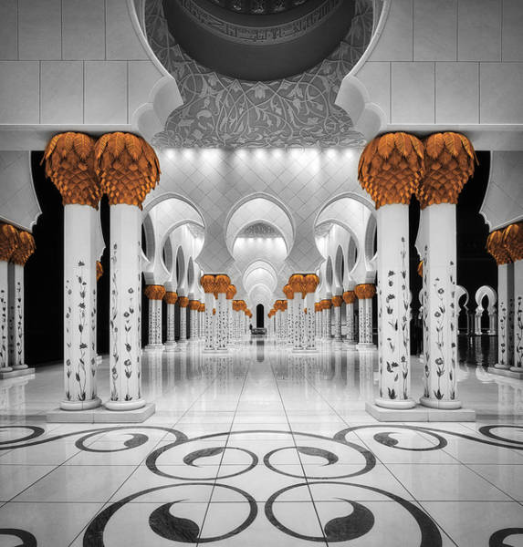 Selective Color Photograph - Sheikh Al Zayed Grand Mosque by Massimo Cuomo