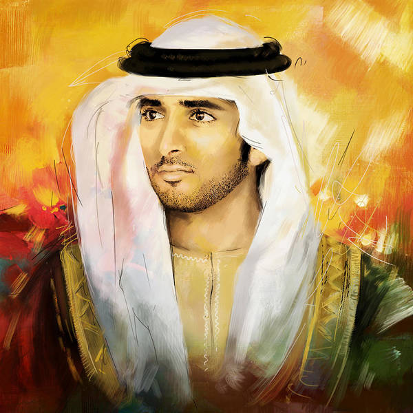 Bin Wall Art - Painting - Sheikh Hamdan Bin Mohammed by Corporate Art Task Force