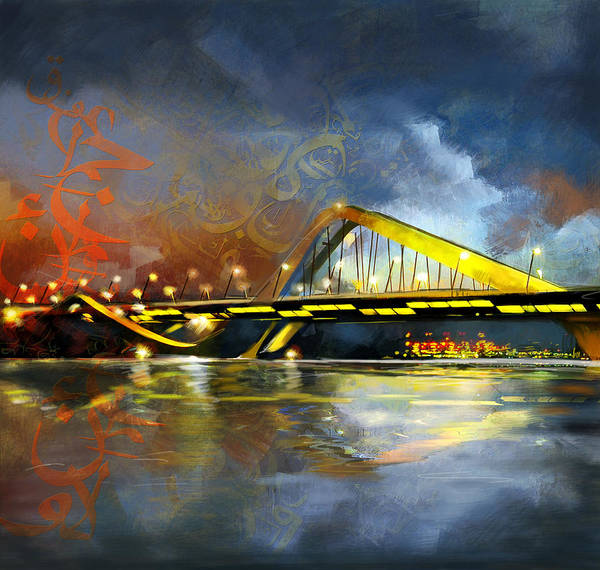 Wall Art - Painting - Sheikh Zaed Bridge by Corporate Art Task Force