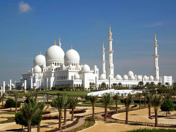 Minarets Photograph - Sheikh Zayed Bin Sultan Al Nahyan Grand by Panoramic Images