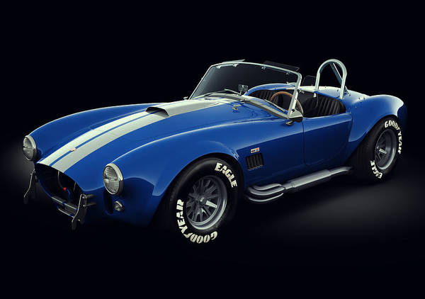 Racing Car Digital Art - Shelby Cobra 427 - Bolt by Marc Orphanos
