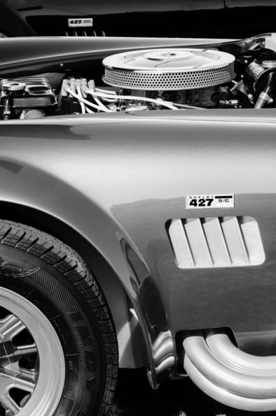 Photograph - Shelby Cobra 427 Engine by Jill Reger