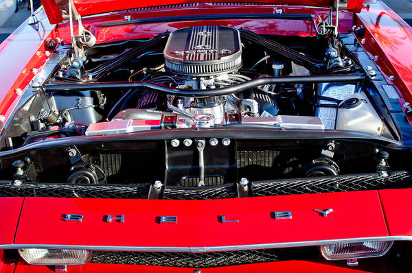 Photograph - Shelby Cobra Engine by Jill Reger