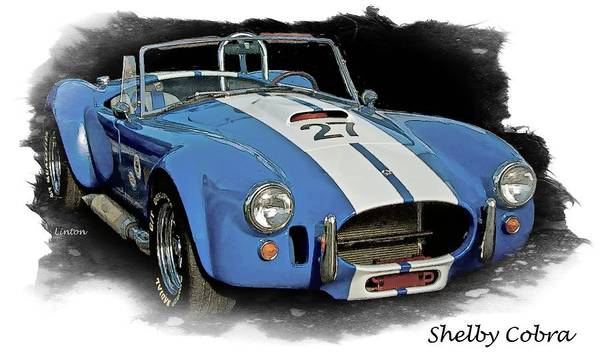 Digital Art - Shelby Cobra by Larry Linton