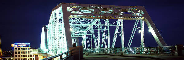 Wall Art - Photograph - Shelby Street Bridge At Night by Panoramic Images