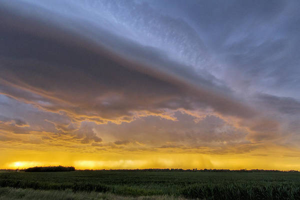 Photograph - Shelf Cloud At Sunset by Rob Graham