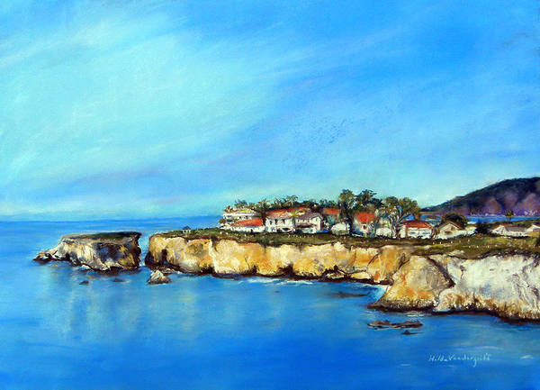 Painting - Shell Beach California by Hilda Vandergriff