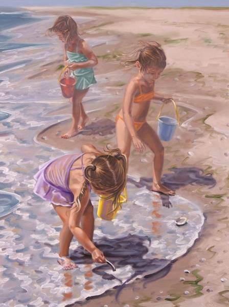Painting - Shell Collecting by Gary M Long