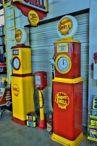 Flammable Wall Art - Photograph - Shell Gas by Sonja Dover