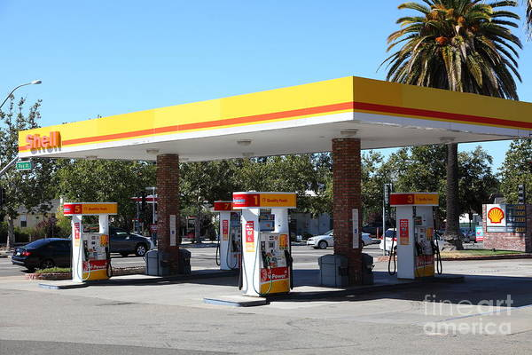 Photograph - Shell Gas Station 5d23960 by Wingsdomain Art and Photography