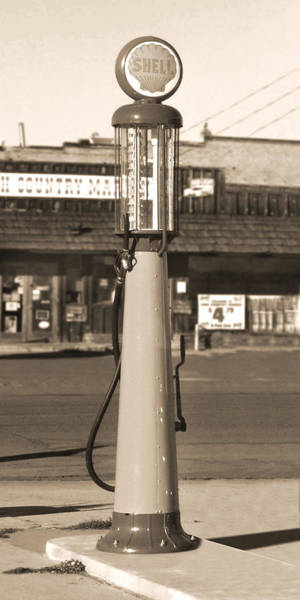 Gas Station Photograph - Shell Gas - Wayne Visible Gas Pump 2 by Mike McGlothlen