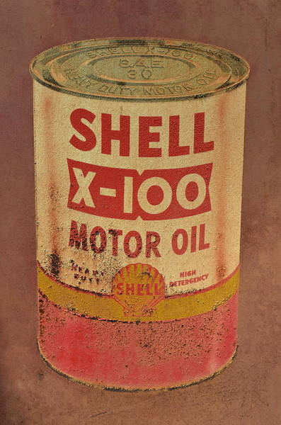 Photograph - Shell Motor Oil by Michelle Calkins