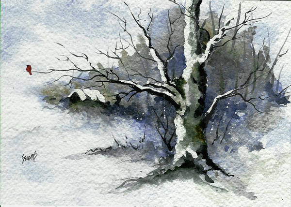 Painting - Shelly's Tree by Sam Sidders