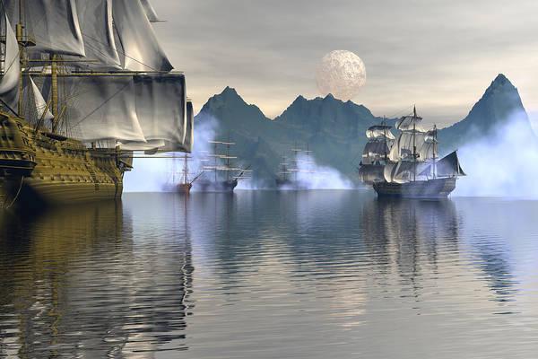 Bryce Digital Art - Shelter Harbor 2 by Claude McCoy