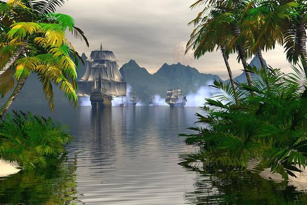 Bryce Digital Art - Shelter Harbor Longshot by Claude McCoy